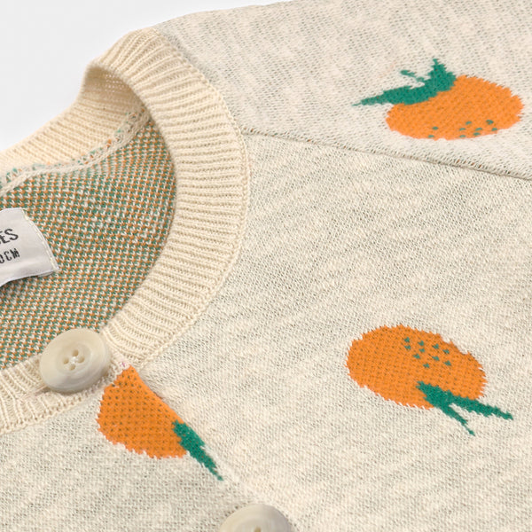 Oranges Knitted Cardigan by Bobo Choses