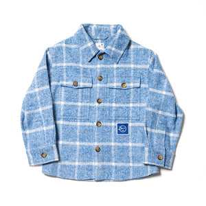 Overshirt in Sky Blue Brushed Plaid by Wynken
