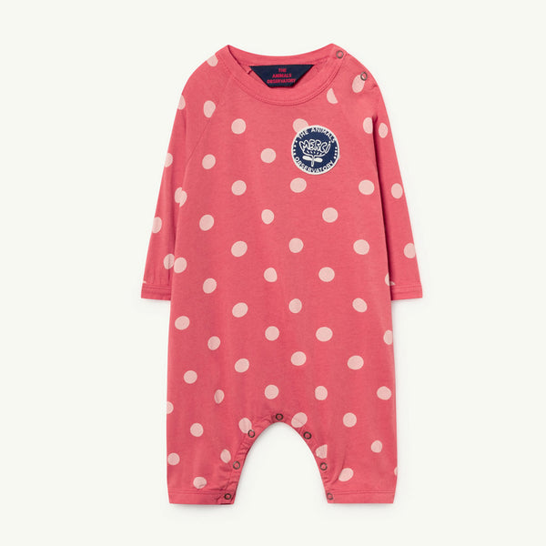 Owl Baby Romper in Polka Dots by The Animals Observatory