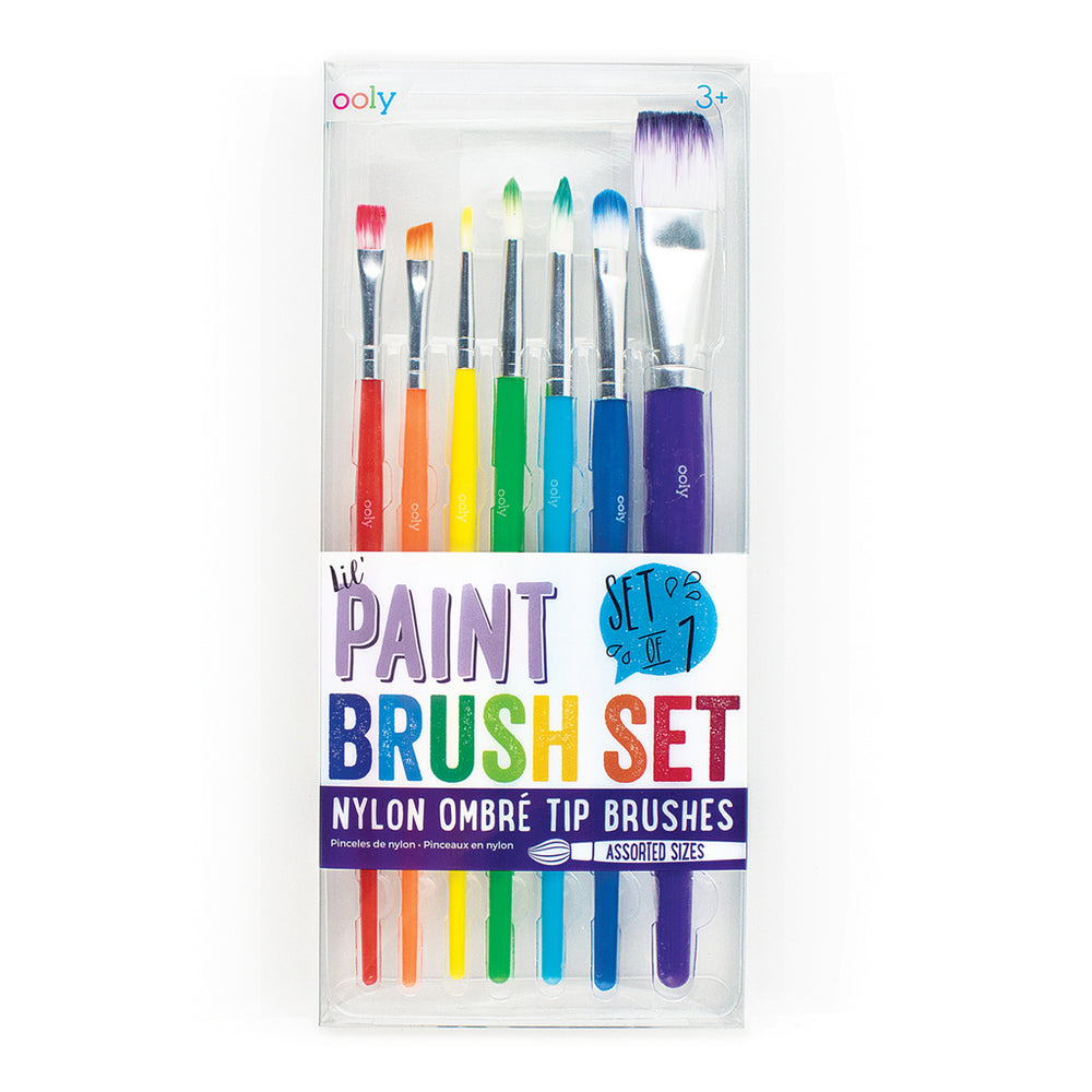 Lil Paint Brush Set of 7 by Ooly