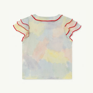 Parakeet Kids Blouse in Watercolor by The Animals Observatory