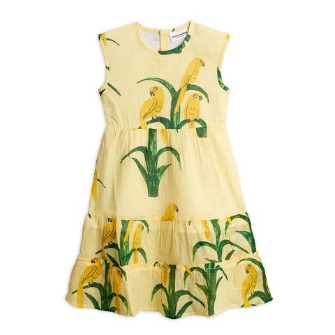 Parrot Woven Dress by Mini Rodini