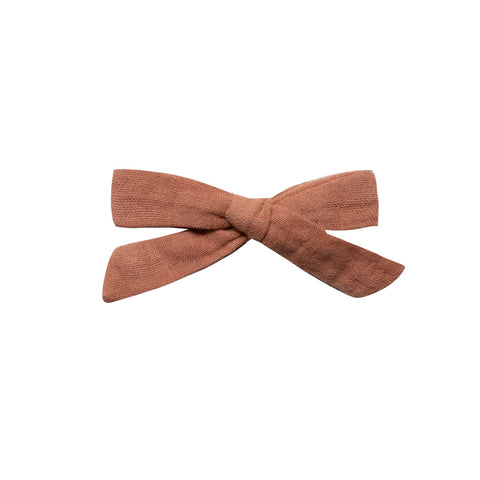 Passionfruit Stripe School Girl Bow by Rylee and Cru
