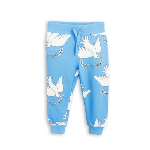 Peace Sweatpants in Blue by Mini Rodini