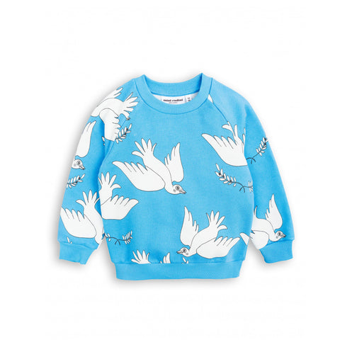 Peace Sweatshirt in Blue by Mini Rodini