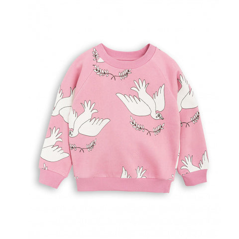 Peace Sweatshirt in Pink by Mini Rodini