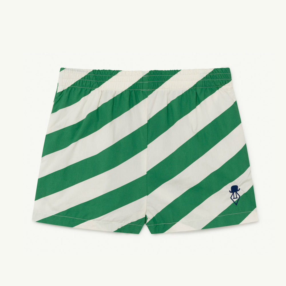 Pelican Kids Shorts in White Stripes by The Animals Observatory