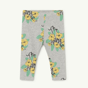 Penguin Baby Leggings in Grey Flowers by The Animals Observatory