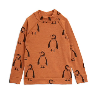 Load image into Gallery viewer, Penguin Wool Long Sleeve Tee by Mini Rodini