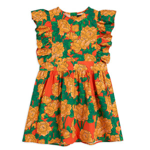 Load image into Gallery viewer, Peonies Woven Ruffle Dress by Mini Rodini