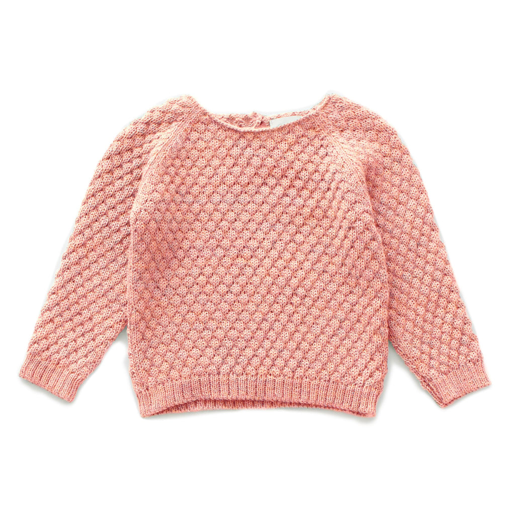 Peony Sheep Stitch Sweater by Oeuf