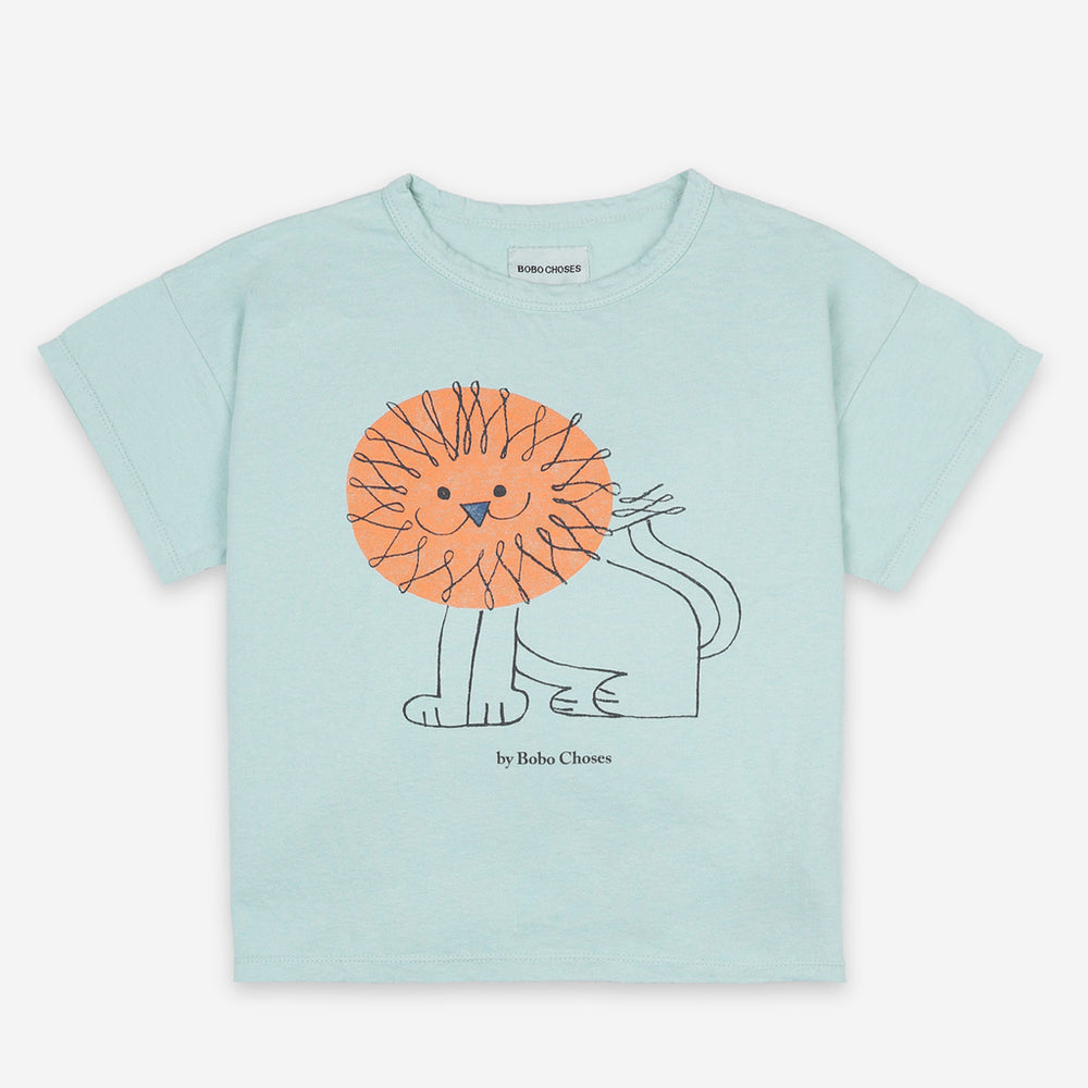 Pet a Lion Short Sleeve T-shirt by Bobo Choses