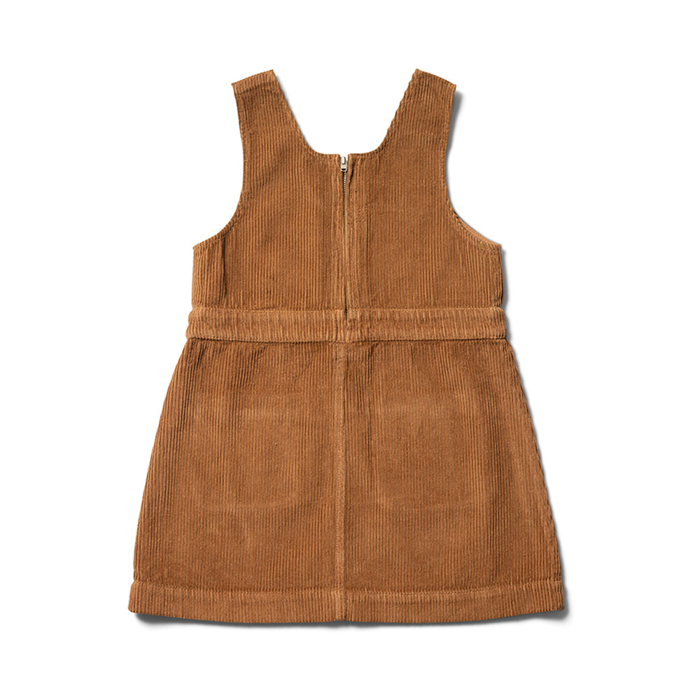 Umber Pinafore Dress by Wynken