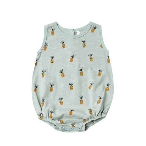 Pineapples Bubble Onesie by Rylee and Cru