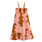 Pink Crocco Smock Dress by Mini Rodini