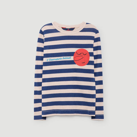Dog Kids Long Sleeve Tee in Pink Stripes by The Animals Observatory