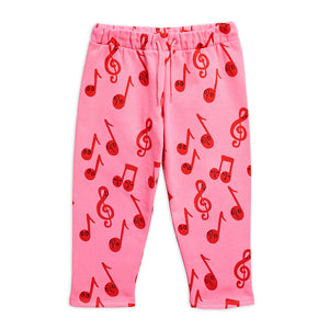 Load image into Gallery viewer, Pink Notes Sweatpants by Mini Rodini