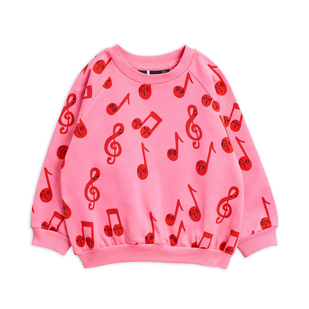 Pink Notes Sweatshirt by Mini Rodini