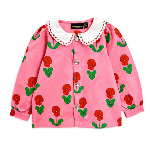 Load image into Gallery viewer, Pink Violas Woven Blouse by Mini Rodini
