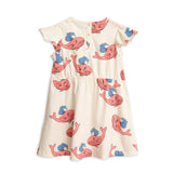 Pink Whale Wing Dress by Mini Rodini