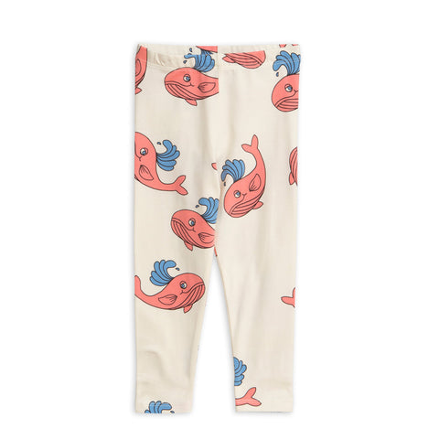 Pink Whale Leggings by Mini Rodini