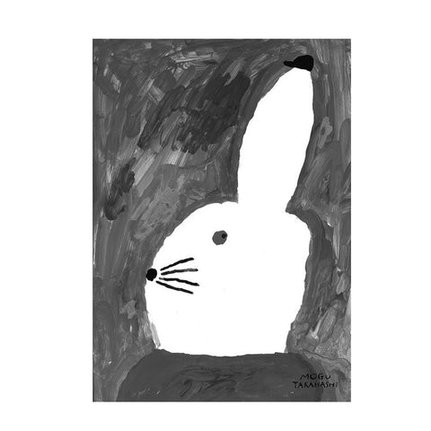 Rabbit With Small Hat Poster by Fine Little Day