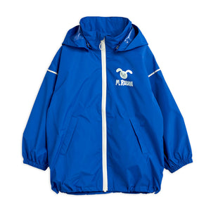 Rabbit Windbreaker in Blue by Mini Rodini