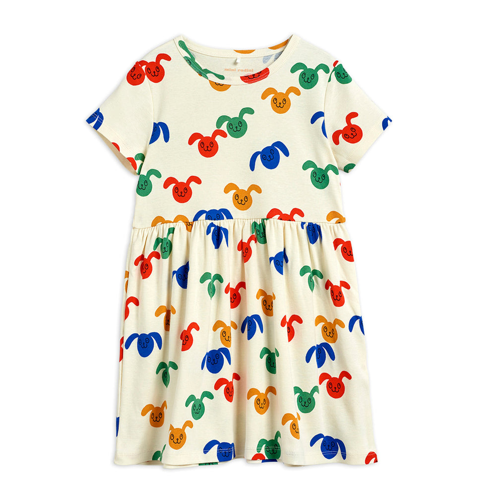 Rabbit Dress in Multi by Mini Rodini