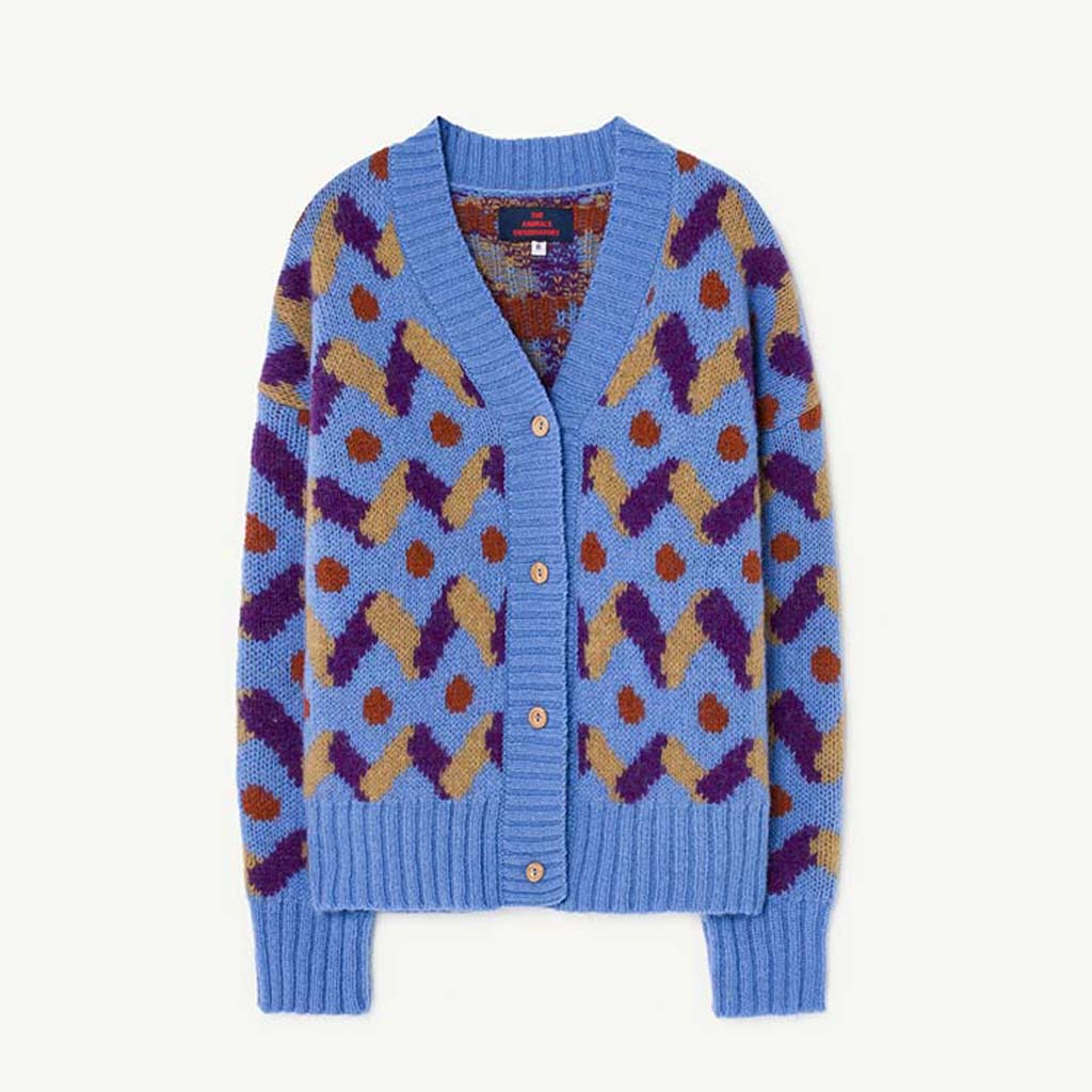 Racoon Kids Cardigan in Blue by The Animals Observatory