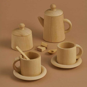 Load image into Gallery viewer, Natural Wooden Tea Set by Raduga Grez