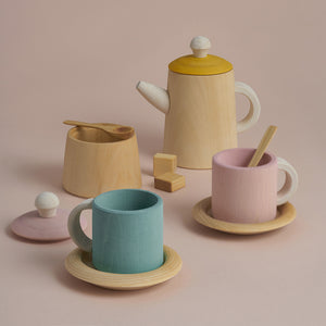 Load image into Gallery viewer, Wooden Tea Set by Raduga Grez