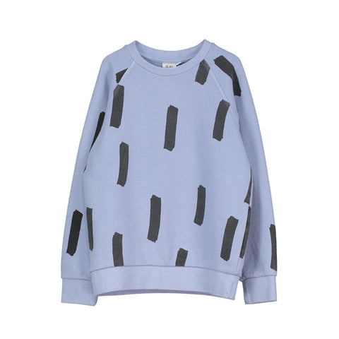 Raglan Jumper in Chalk Blue with Paintbrush Pattern by Beau Loves