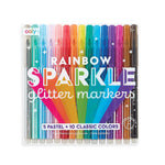 Rainbow Sparkle Glitter Markers- set of 15 by Ooly