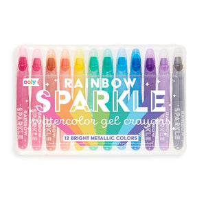 Rainbow Sparkle Watercolor Gel Crayons - Set of 12 by Ooly