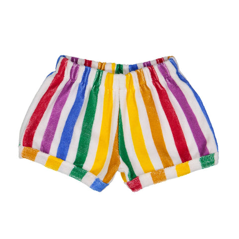 Rainbow Stripe Terry Shorts by Hugo Loves Tiki