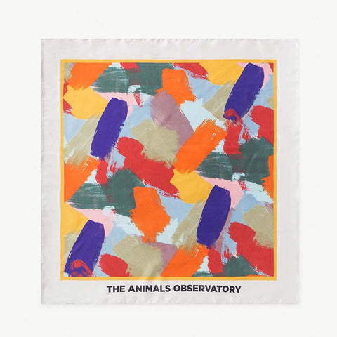 Multicolor Brush Print Scarf by The Animals Observatory