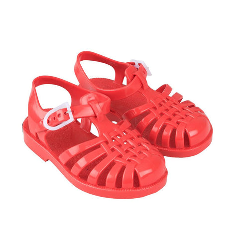 Red Jelly Sandals by Tinycottons