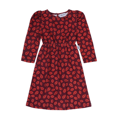 Leaves Puffed Dress by One Day Parade