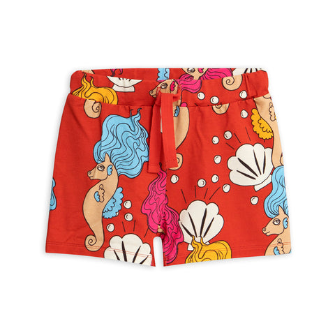 Red Seahorse Shorts by Mini Rodini