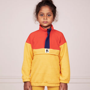 Yellow/ Red Fleece Zip Pullover by Mini Rodini