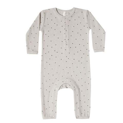 Ribbed Baby Jumpsuit in Dove by Quincy Mae