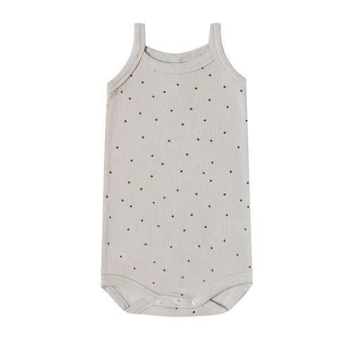 Ribbed Tank Onesie in Dove by Quincy Mae