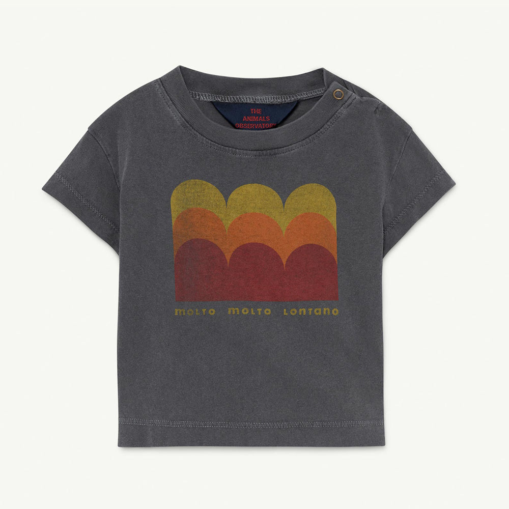 Rooster Baby T-shirt in Black Molto by The Animals Observatory