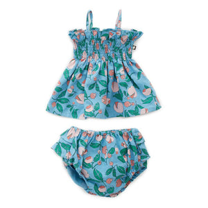 Ruffle Bloomers Set Blue Flowers by Oeuf