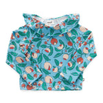 Ruffle Rashguard Blue Flowers by Oeuf