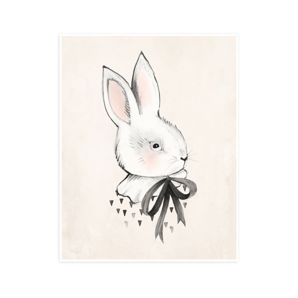 Bunny Art Print by Rylee and Cru
