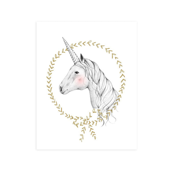 Unicorn Art Print by Rylee and Cru
