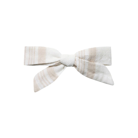Sand Stripe School Girl Bow by Rylee and Cru