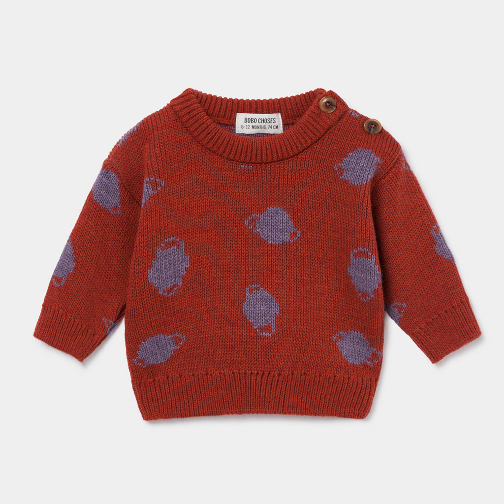 Baby Small Saturn Jacquard Sweater by Bobo Choses
