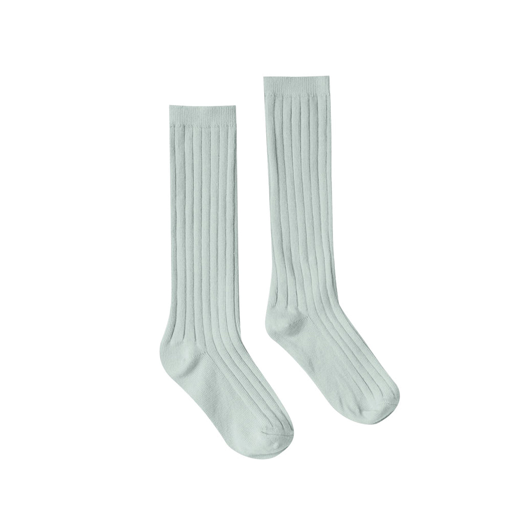 Seafoam Solid Knee Socks by Rylee and Cru
